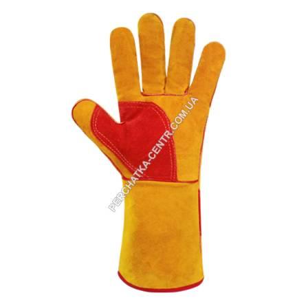 Краги 69503 (утеплені рукавиці) спилок довга