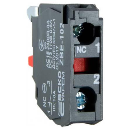 Блок-контакт N/C TB5-ZBE-102 (ДЛЯ-КНОПОК) для ТВ5