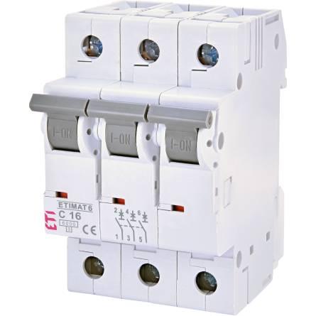 Автоматичний вимикач ETIMAT6 3p C 16A (6 kA)