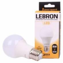 Лампа 8W Е27 4100К LEBRON світлод. 00-10-08