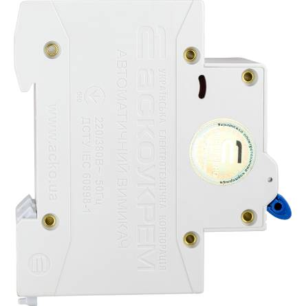 Автоматичний вимикач 10А/2-полюсний ВА2017/С АсКО