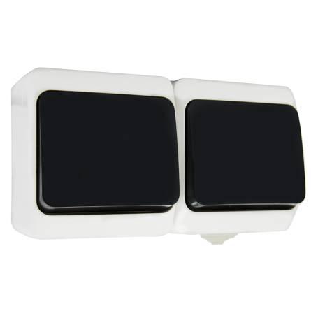 Блок зовнішній Аско 2*2-клавішний (чорна клавіша) 2В310-2-ІР44N