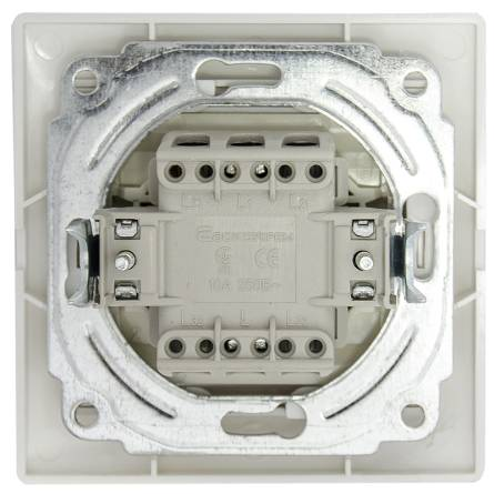 Вимикач Аско 1-клавішний з підсвіткою білий ВВсб 10-1-1-FI-W