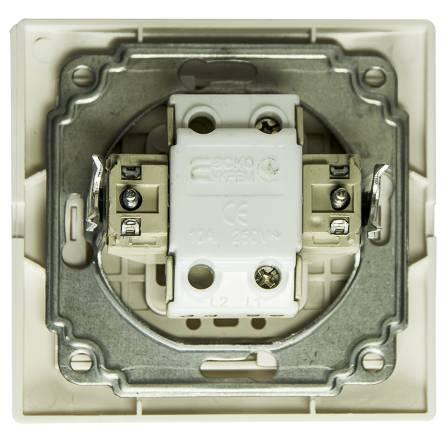 Вимикач Аско дзвінка білий ВВдсб 10-FI-W