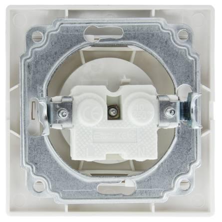 Розетка Аско 1-а без заземлення біла РВсб 16-FІ-W