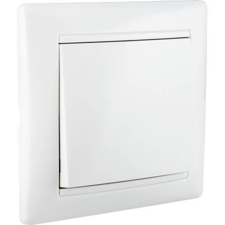 Вимикач Аско 1-клавішний білий ВВ10-1-0-Fr-W