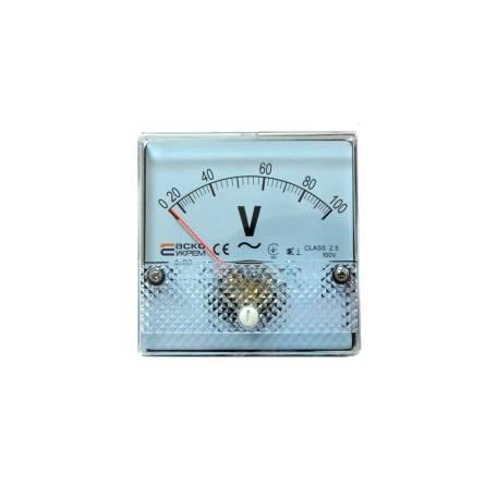 Вольтметр (100В) 80*80