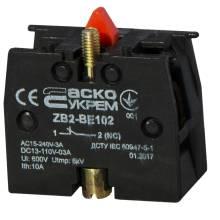 Блок-контакт N/C ZB2-BE102 червоний Н3 (ДЛЯ-КНОПОК)