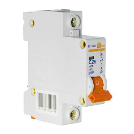 Автоматичний вимикач 25А/1-полюсний ECOHOME