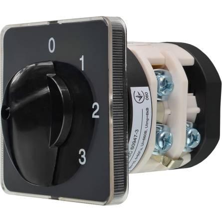 Перемикач ПКП Е9 40А/2-843 (0-1-2-3 вибір фази)