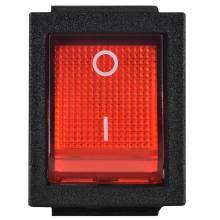 Перемикач1-клавішний (червона з підсвідкою) KCD2-201N R/B