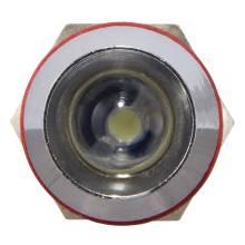 Арматура світлосигнальна  AD22С-10 мет. біла 24 В