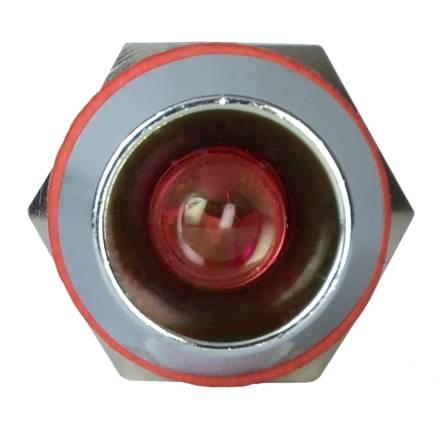 Арматура світлосигнальна AD22С-12 металева червона 220 В