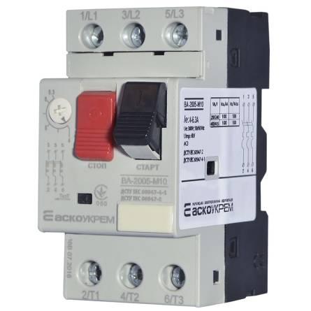 Автомат захисту двигуна ВА-2005 М10