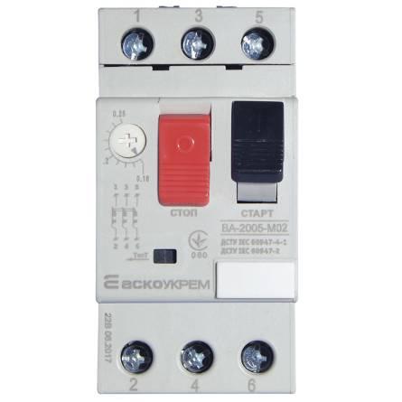 Автомат захисту двигуна ВА-2005 М02 0,16-0,25 А