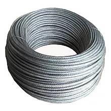 Канат сталевий 2,0 оцинкований (1км=17,3 кг) РЗ=336 кг.