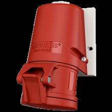 16А 5П 400В розетка настінна IP44 (27004)