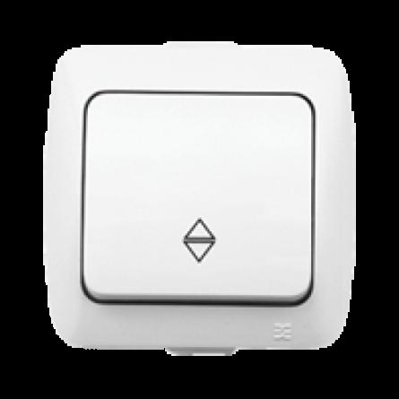 Вимикач ALSU 1-клавішний, накладний, прохідний