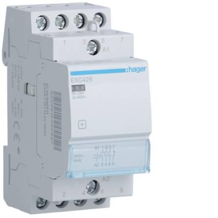 Контактор ESС-428 230В/25А 3NO+ 1NC Hager