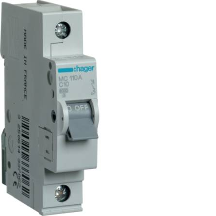 Автоматичний вимикач 10/1 MC110A/С Hager