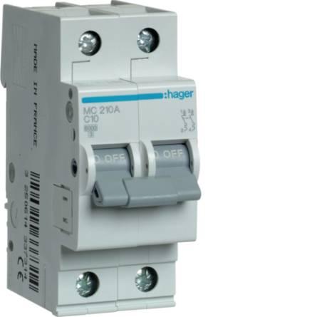 Автоматичний вимикач 10/2 MC210A/С Hager