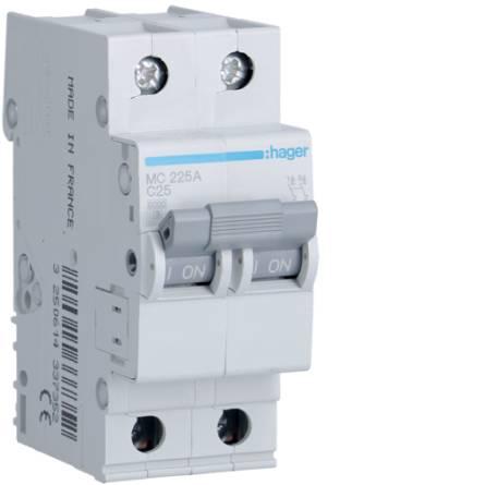 Автоматичний вимикач 25/2 MC225A/С Hager