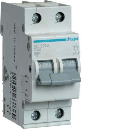 Автоматичний вимикач 32/2 MC232A/С Hager