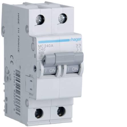 Автоматичний вимикач 40/2 MC240A/С Hager