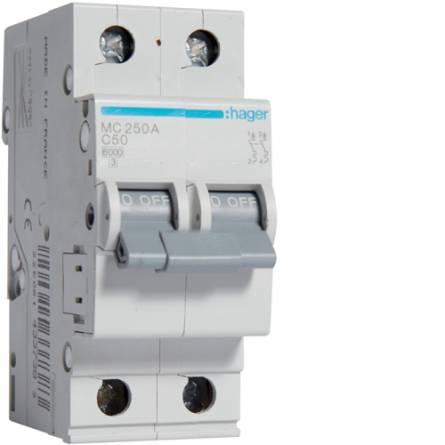 Автоматичний вимикач 50/2 MC250A/С Hager