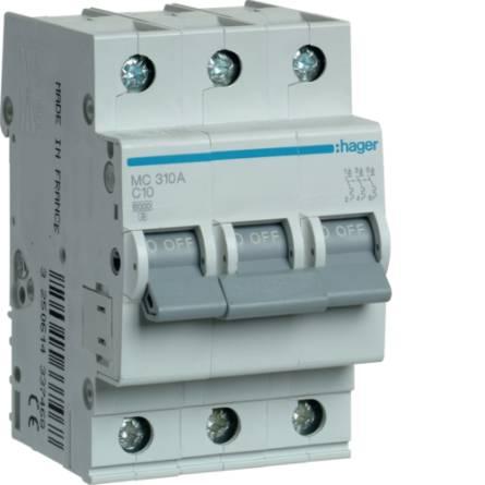 Автоматичний вимикач 10/3 MС310A/C Hager