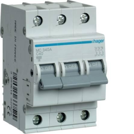 Автоматичний вимикач 40/3 MС340А/C Hager