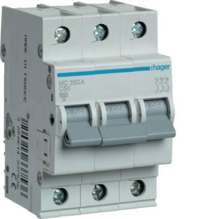 Автоматичний вимикач 50/3 MС350А/C Hager