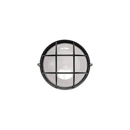 Світильник НББ-32 64-100 круг чорний з решіткою (QMF/333)