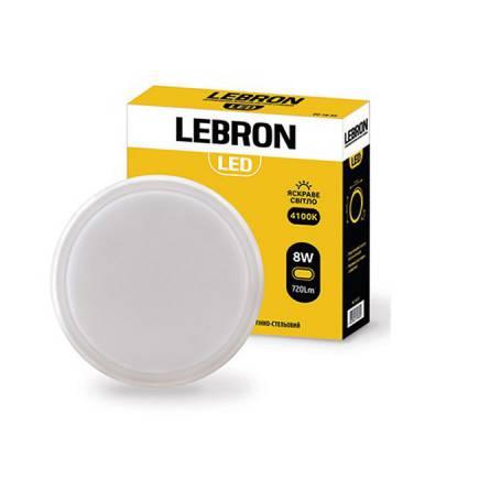 Світильник LED 8Вт 4100КIP54 круглий LEBRON 12-34-18