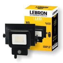 Прожектор світлодіод.10 Вт 220В SOLAR+д/руху LEBRON 17-16-10