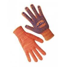 Рукавиці (69540) бавовняні з ПВХ помаранчеві seVen