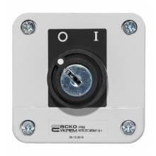 Пост 1-кнопковий Стоп ХАL-В142Н29 з ключем