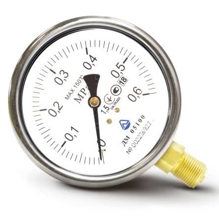 Манометр ДМ 05050 - 2,5МПа кисень