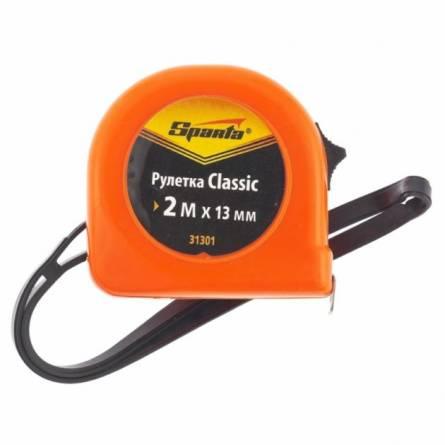 Рулетка 2мх13мм пластиковий корпус SPARTA 31301