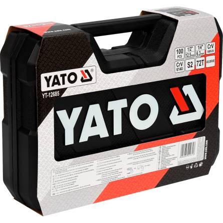 Набір інструментів 1/2, 1/4 100 предметів YATO YT-12685