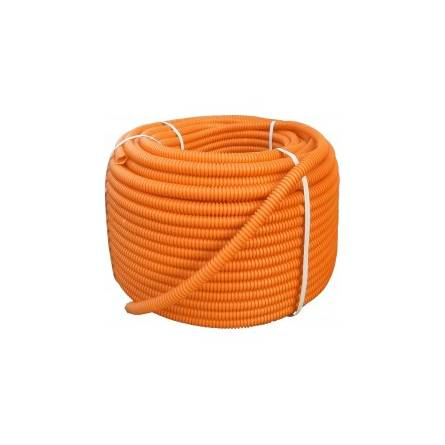 Труба гофрована d 15/20 з проволкою (100м) У/Ф-захист помаранчева