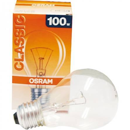 Лампа 100W E27 груша прозора OSRAM