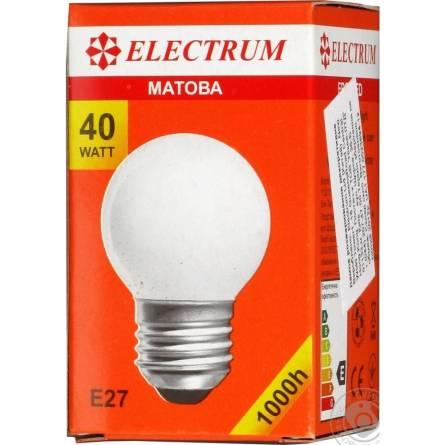 Лампа 40W E27 матова Electrum