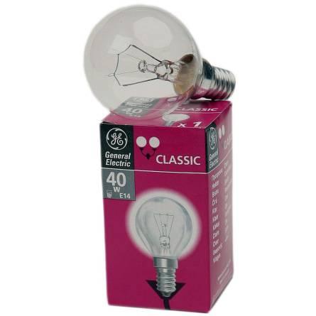 Лампа 40W E14 шар прозорий General