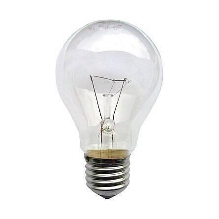 Лампа груша прозора 100 Вт Е27 індивідуальна упаковка ІСКРА