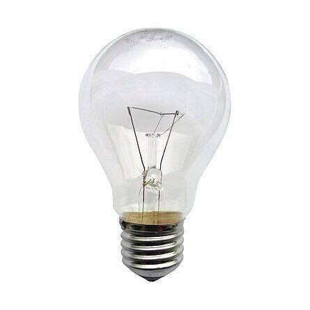 Лампа груша прозора 75 Вт Е27 індивідуальна упаковка ІСКРА