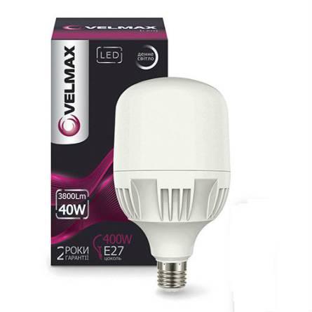 Лампа 40W Е27+ Е40 6500К Velmax світлодіодна