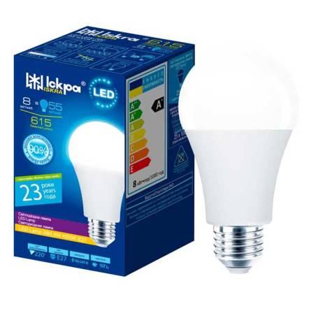 Лампа 8W Е27 4000К Іскра світлодіодна