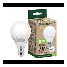 Лампа 7W Е14 4100К куля   ENERLIGHT світлодіодна
