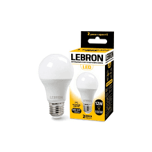 12Вт Е27 4100К лампа світлод LEBRON акустичний датчик 11-11-86
